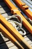 Парусник, ностальгия, в лете на озере, вызвал Lateiner, старый парусник стоковые изображения rf