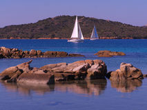 Парусник с острова Caprera Стоковое Фото