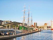 Парусное судно Rickmer Rickmers, St Pauli Гамбурга, Landungsbrucken Стоковое фото RF