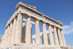 Парфенон в акрополе - Афинах - Греции Стоковая Фотография RF