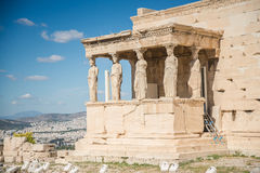 Парфенон в акрополе, Греции Стоковые Фото