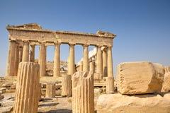 Парфенон в Афинах, Греции стоковое изображение