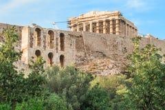Парфенон в Афинах, Греции Стоковая Фотография