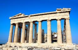 Парфенон на акрополе, Афины, Греция Стоковое Изображение