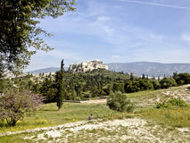 Парфенон на акрополе в Афинах Греции Стоковое Изображение RF
