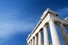 Парфенон на акрополе в Афинах стоковая фотография rf