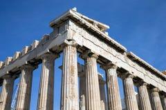 Парфенон на акрополе в Афинах стоковые фото