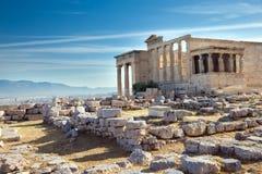 Парфенон на акрополе в Афинах стоковое изображение