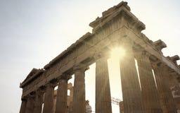 Парфенон, холм акрополя, Афины стоковые изображения rf