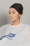 Парфюмерия Москвы XXI осени Intercharm международная и выставка молодая, красивый состав косметик женщины брюнет Стоковые Изображения RF