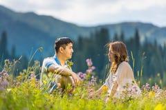 Пары азиатских пар азиатские совместно Стоковые Изображения RF