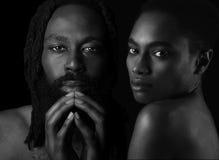 Пары американца Афро стоковые изображения rf