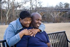 пары афроамериканца Стоковое Фото