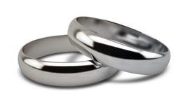 Пары белого золота обручального кольца Стоковая Фотография