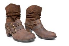 пары ботинок кожаные Стоковое Фото