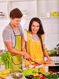 Пары варя на кухне Стоковые Фотографии RF
