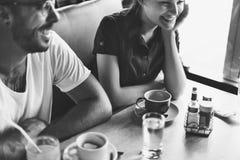 Пары вися вне концепцию кафа Стоковая Фотография RF