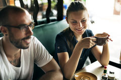 Пары вися вне концепцию кафа Стоковое Фото
