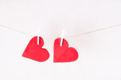 Пары вися сердец Стоковое фото RF