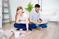 Пары восстанавливая квартиру Стоковое Изображение RF