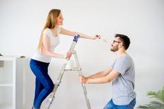 Пары восстанавливая квартиру Стоковые Изображения RF