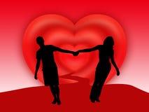 пары вручают положение Стоковое Изображение