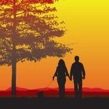 пары выслеживают гулять Стоковое фото RF