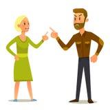 Пары в бое Иллюстрация вектора плоского дизайна стоковое изображение