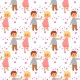 Пары в взрослом amorousness женщины людей единения характеров вектора влюбленности счастливом усмехаясь романтичном совместно бесплатная иллюстрация