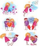 Пары в влюбленности Стоковое Изображение RF
