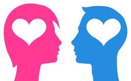 Пары в влюбленности иллюстрация вектора