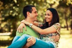 Пары в влюбленности стоковая фотография rf