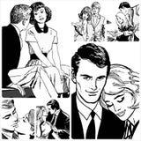 Пары в влюбленности Стоковые Фото