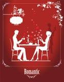 Пары в кафе Стоковое Изображение