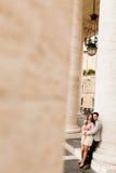 Пары в Риме Стоковая Фотография RF