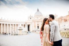 Пары в Риме Стоковое Фото