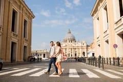 Пары в Риме Стоковое фото RF