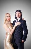 Пары в романтичной концепции влюбленности Стоковая Фотография
