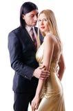 Пары в романтичной принципиальной схеме Стоковая Фотография
