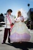 Пары в старом венецианском историческом костюме Стоковое Изображение