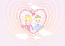 Пары влюбленности дня валентинки Стоковое Изображение