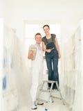 Пары влюбленности домашней работы стоковые фото