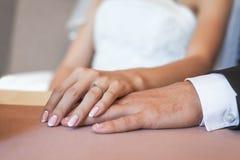 Пары влюбленности рук Стоковое Изображение RF