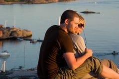 Пары влюбленности Стоковое фото RF
