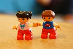 Пары влюбленности Lego Стоковые Фото