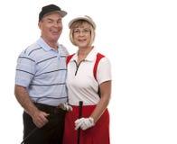 Пары гольфа Стоковое Изображение