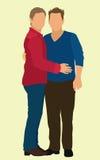 Пары гомосексуалиста Стоковое Фото