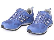 Пары голубого ботинка спорта Стоковые Изображения