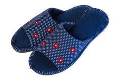 Пары голубых тапочек Стоковое Изображение RF