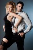 Пары - девушка и ванта стоковая фотография rf